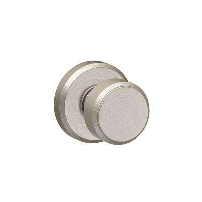 Bowery Satin Nickel Passage Hall/Closet Door Knob with Greyson Trim