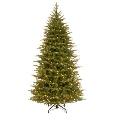 7-1/2 ft. Feel Real Nordic Spruce Medium Hinged Artificial Christmas Tree with Clear Lights