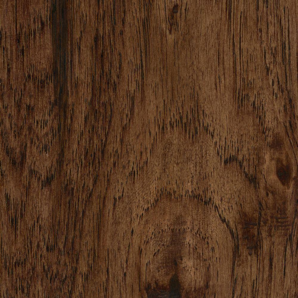 Take Home Sample - Handscraped Distressed Alvarado Hickory Click Lock Hardwood Flooring - 5 in. x 7 in.