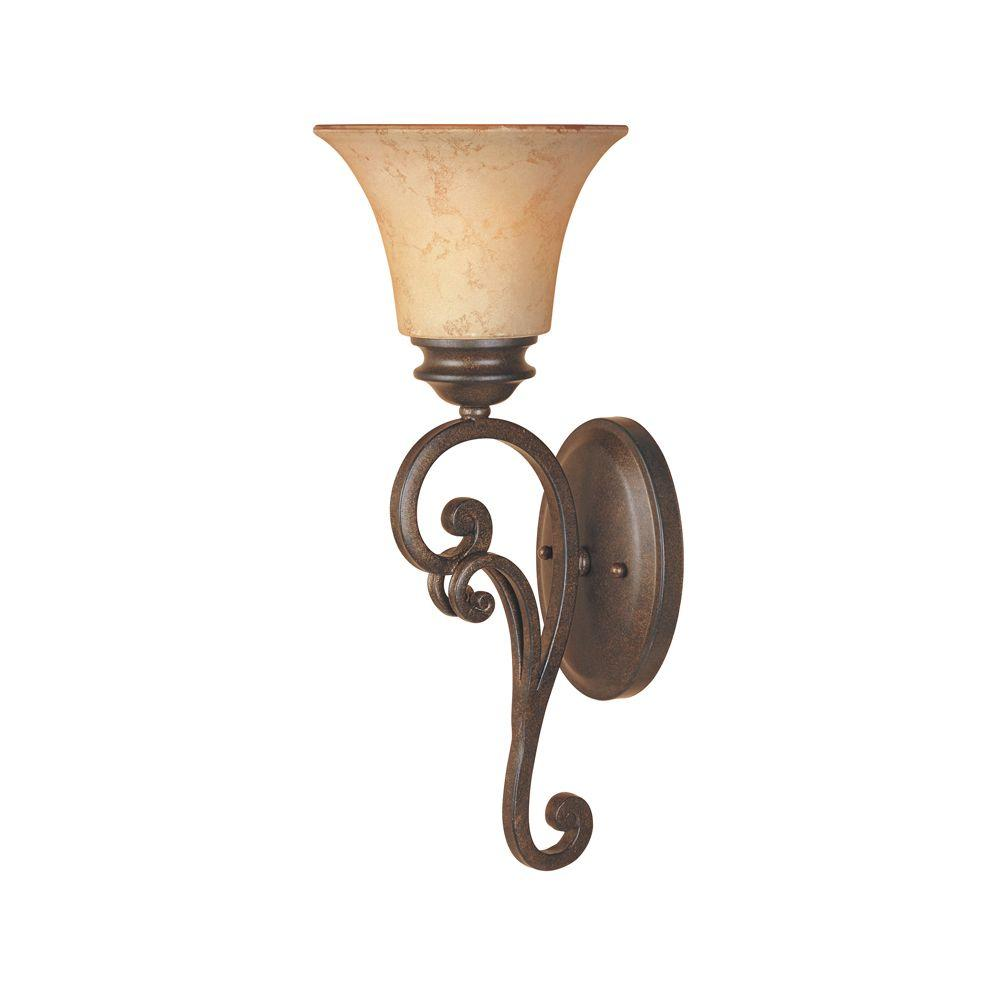 Designers Fountain Vienna 1-Light Forged Sienna Wall Sconce
