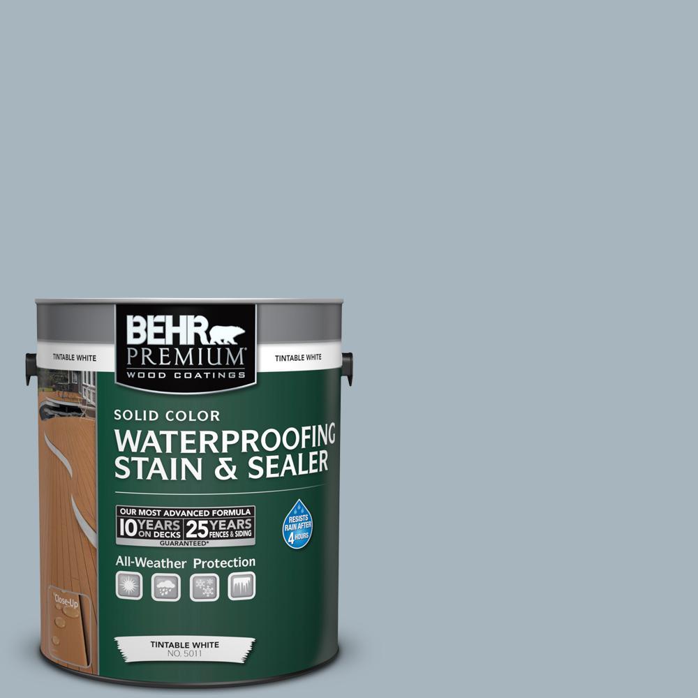 1 gal. #N480-3 Shadow Blue Solid Waterproofing Stain and Sealer