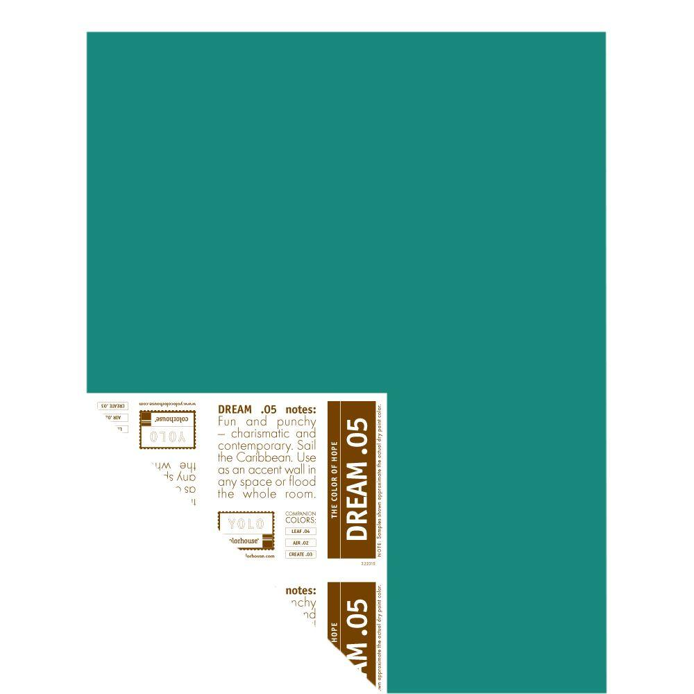 YOLO Colorhouse 12 in. x 16 in. Dream .05 Pre-Painted Big Chip Sample