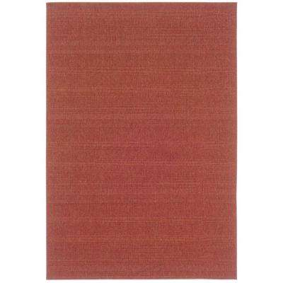 Nevis Promenade Red 1 ft. 8 in. x 3 ft. 7 in. Accent Rug