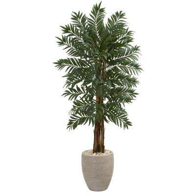 5 ft. High Indoor Parlor Palm Artificial Palm Tree in Decorative Planter