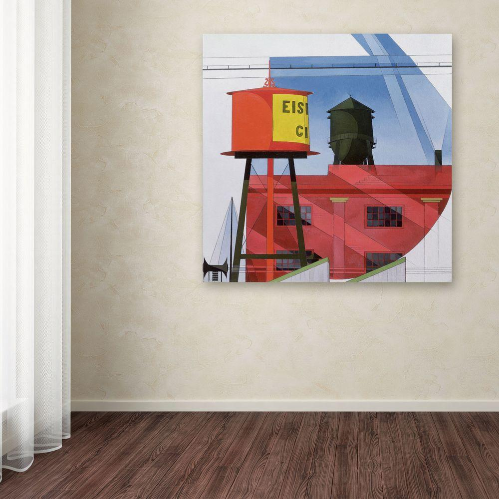 14 in. x 14 in. Buildings Abstraction Canvas Art