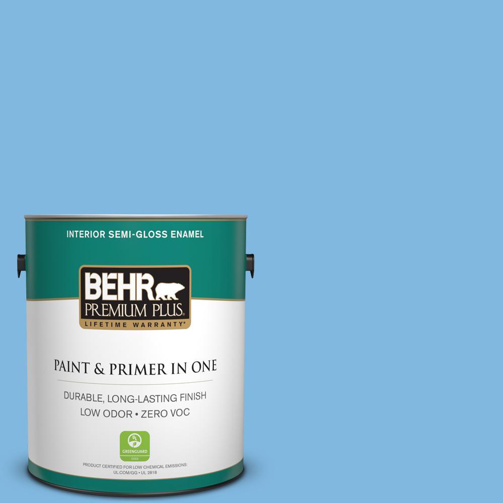 BEHR Premium Plus 1-gal. #560B-4 Enchanting Zero VOC Semi-Gloss Enamel Interior Paint