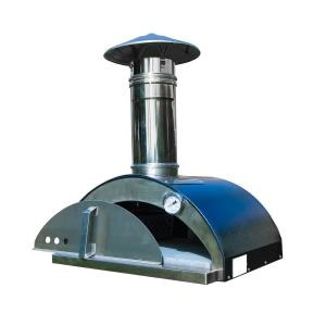 Nonno Lillo 24 inch W Wood-Fired Outdoor Pizza Oven in Anthracite by