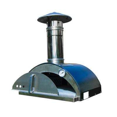 Nonno Lillo 24 in. Wood Burning Outdoor Pizza Oven in Graphite