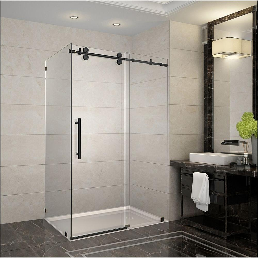 Aston Langham 48 In. X 35 In. X 75 In. Completely Frameless Sliding