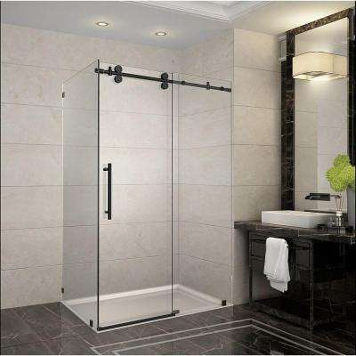 Langham 48 in. x 35 in. x 75 in. Completely Frameless Sliding Shower Enclosure in Oil Rubbed Bronze