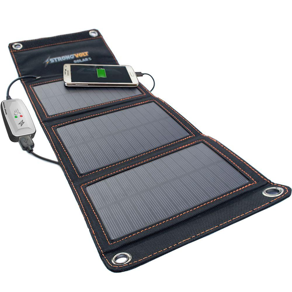 StrongVolt 5-Watt Folding Solar Charger with SunTrack Technology