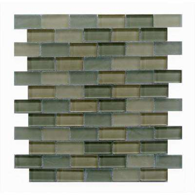 Free Flow Pale Lime 12 in. x 12 in. x 8 mm Glass Mesh-Mounted Mosaic Tile