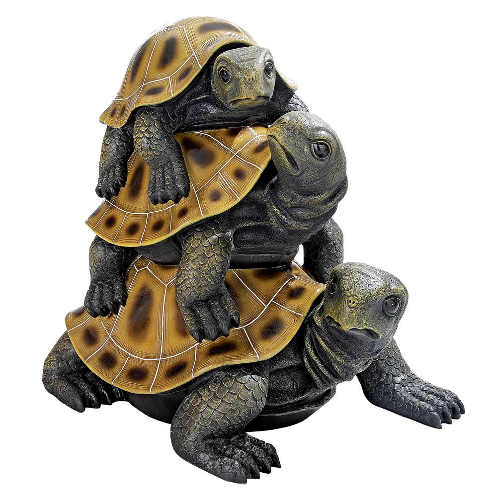 Design Toscano 48 in  H Three's a Crowd Stacked Turtle Giant Statue