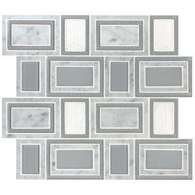 Soho Stax 12 in. x 11.22 in. x 8mm Glass Stone Mesh-Mounted Mosaic Tile (9.4 sq. ft. / case)