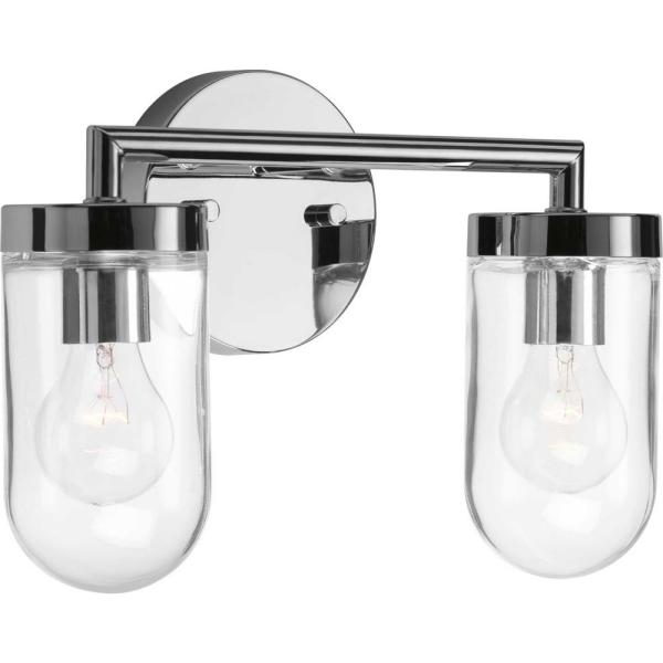Signal 2-Light Polished Chrome Bath Light