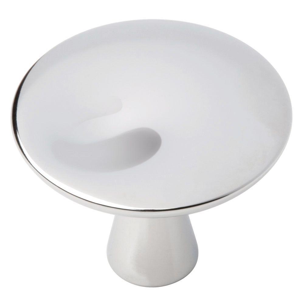 Impression 1-1/4 in. (32mm) Polished Chrome Round Cabinet Knob