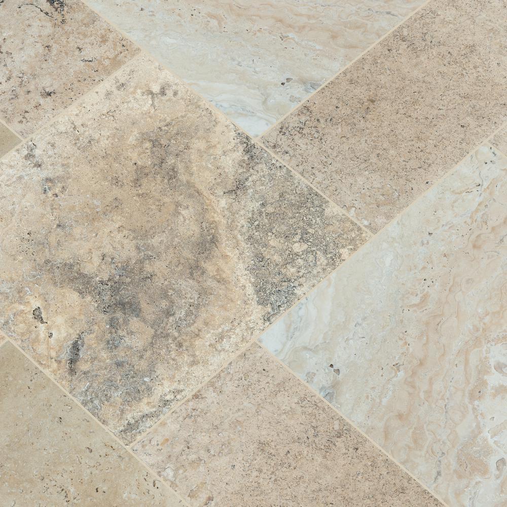 Philadelphia Travertine Tumbled Mosa/ïque Bo/îte de 5 m/² Pied par Oracle Tile /& ‿Stone