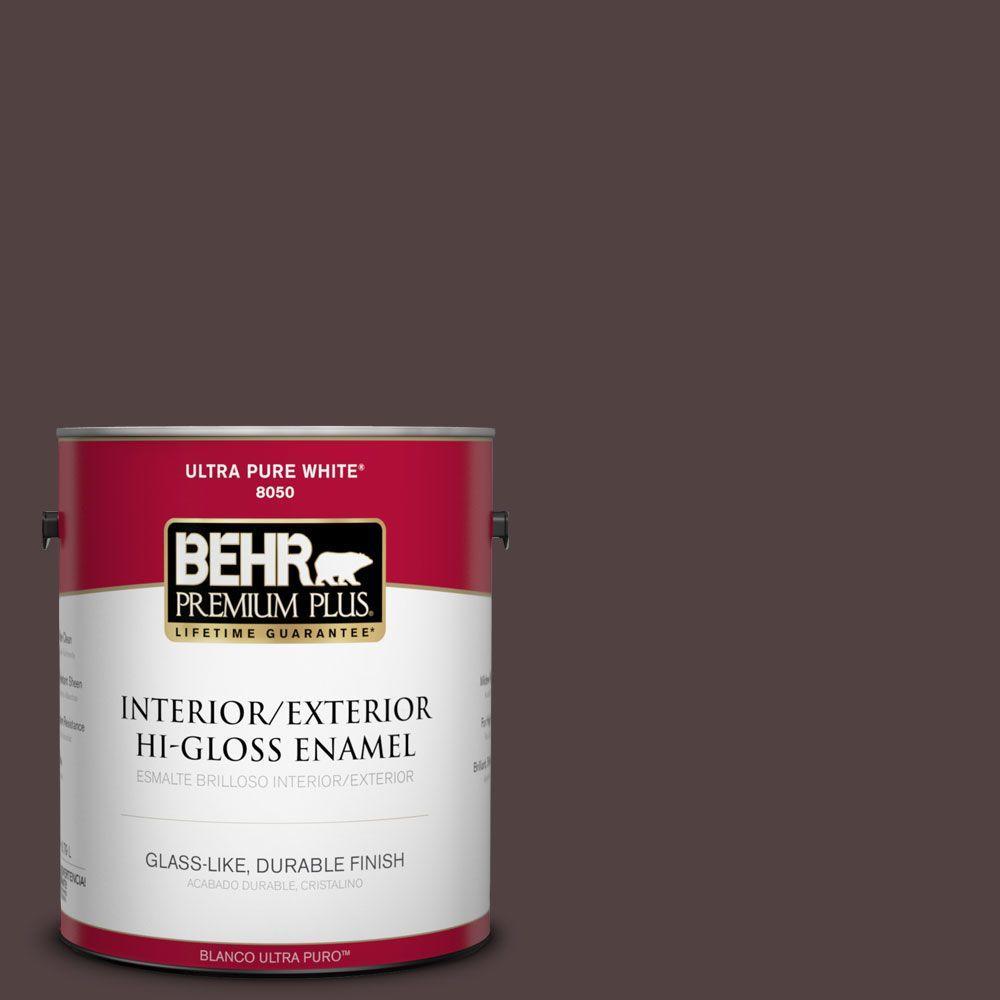 1-gal. #BXC-87 Rich Bordeaux Hi-Gloss Enamel Interior/Exterior Paint