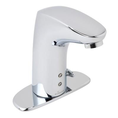 Ultra-Sense Battery Powered Single Hole Touchless Bathroom Faucet with 4 in. Deck Plate in Chrome