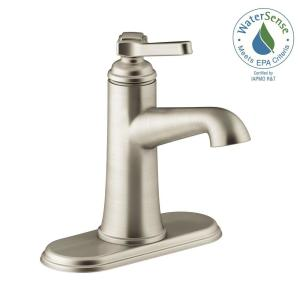 Georgeson Single Hole Single Handle Water-Saving Bathroom Faucet in Vibrant Brushed Nickel