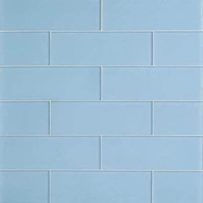 Contempo 4 in. x 12 in. Blue Gray Frosted Glass Wall Tile (15 pieces, 5 sq. ft. / Case)
