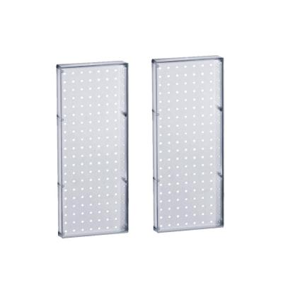 20.625 in H x 8 in W Pegboard Clear Styrene One Sided Panel (2-Pieces per Box)