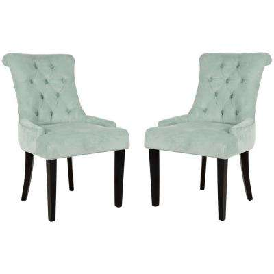 Bowie Light Blue/Espresso Cotton Side Chair (Set of 2)