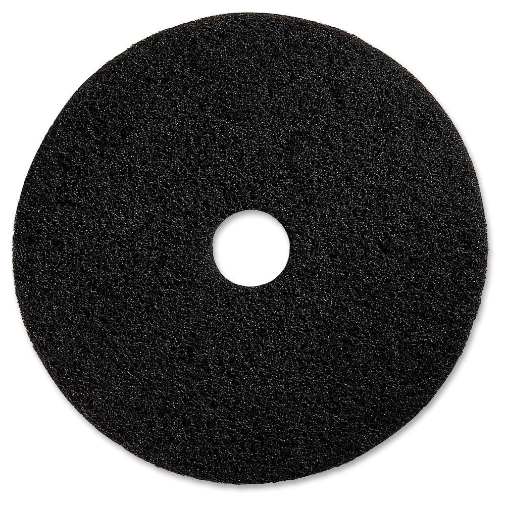 Genuine Joe 17 in. Advanced Design Black Floor Pad (5 per Carton) -  GJO94117