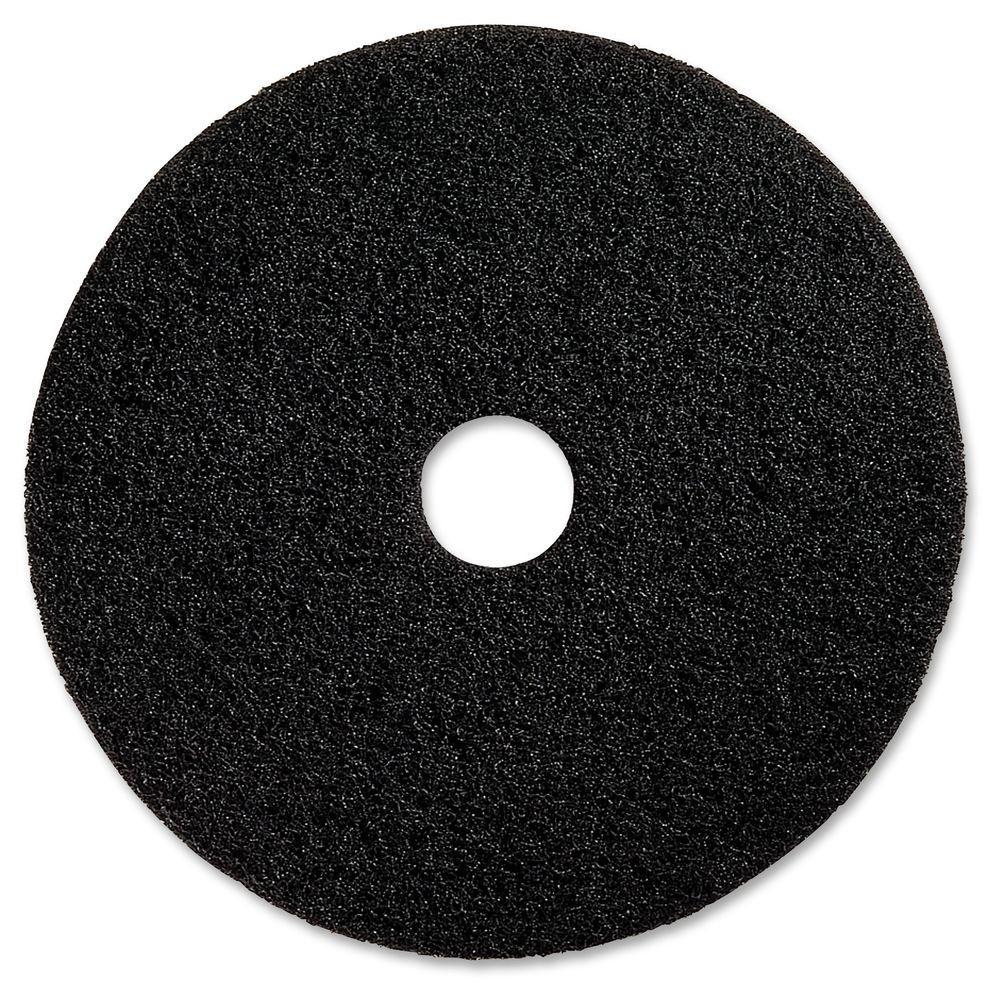 17 in. Advanced Design Black Floor Pad (5 per Carton)