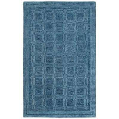 Fifth Avenue Blue 10 ft. x 13 ft. Geometric Area Rug