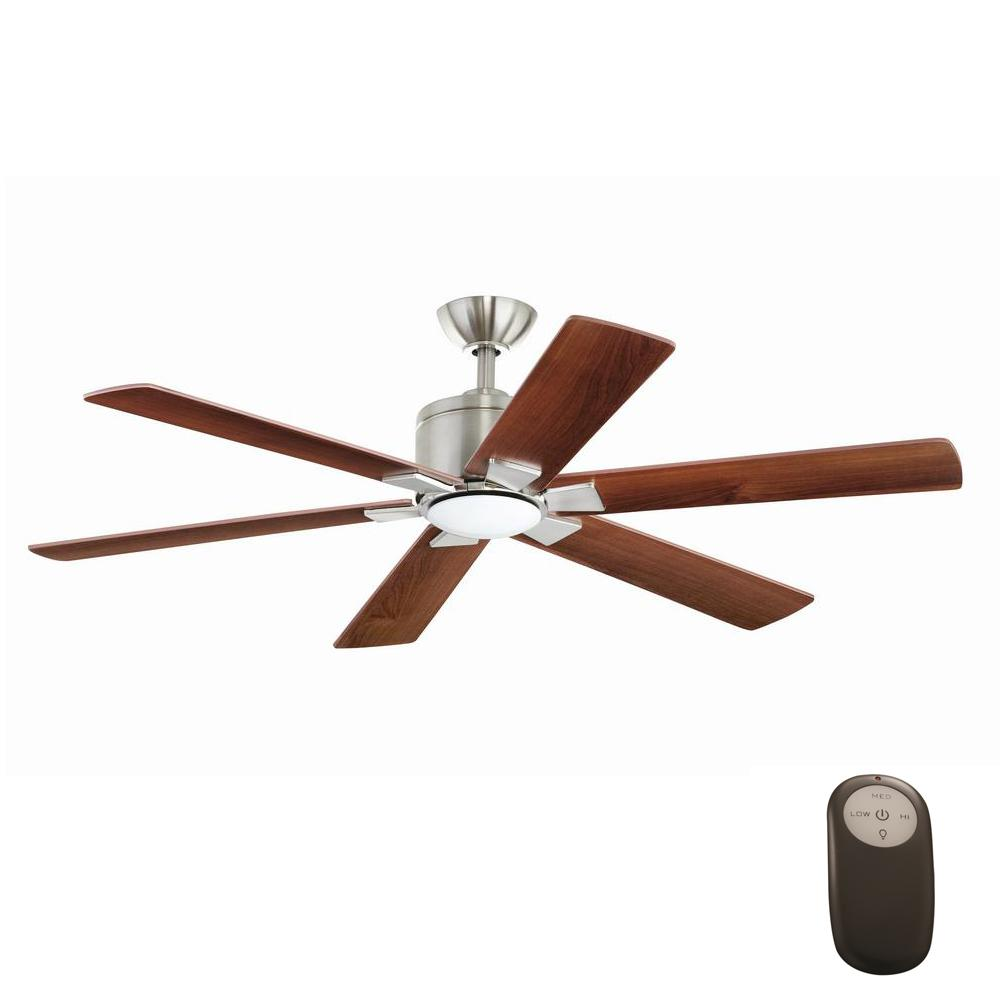 This Review Is From:Renwick 54 In. Integrated LED Indoor Brushed Nickel  Ceiling Fan With Light Kit And Remote Control
