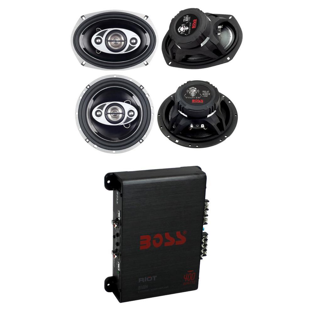 2BLS6904 Absolute USA 2 X BLS6904 Blast Series 6 x 9 4 Way Car Speakers 800 Watts Max Power