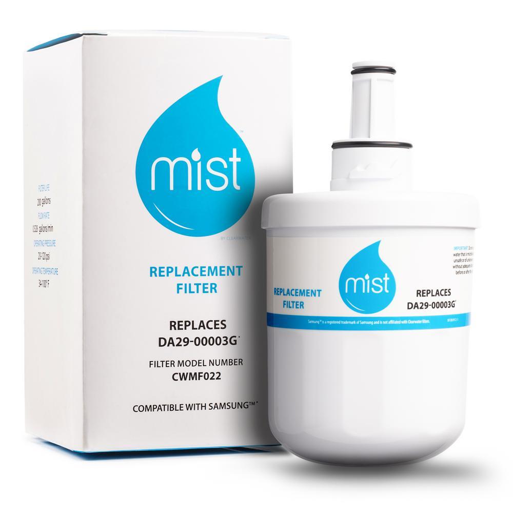 Clearwater Filters Mist Aqua Pure Plus Replacement For Samsung Da29 00003g Da29 00003f Da29 00003b Da29 00003a Refrigerator Water Filter Cwmf022 The Home Depot