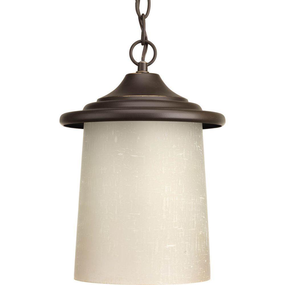 Essential Collection 1-Light Outdoor Antique Bronze Hanging Lantern