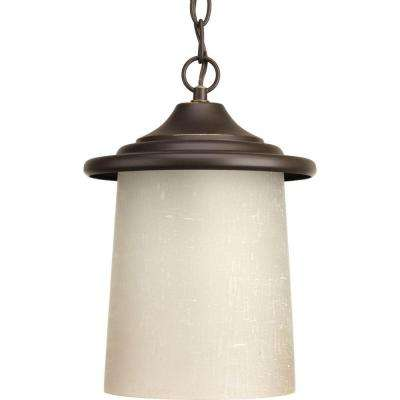 Essential Collection 1-Light Outdoor Antique Bronze Hanging Lantern