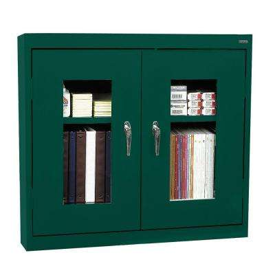 30 in. H x 36 in. W x 12 in. D Clear View Wall Cabinet in Forest Green