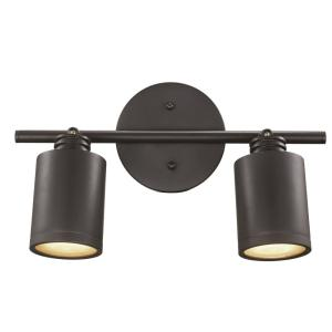 Holdrege 1.2 ft. 2-Light Rubbed Oil Bronze Integrated LED Track Light Kit by