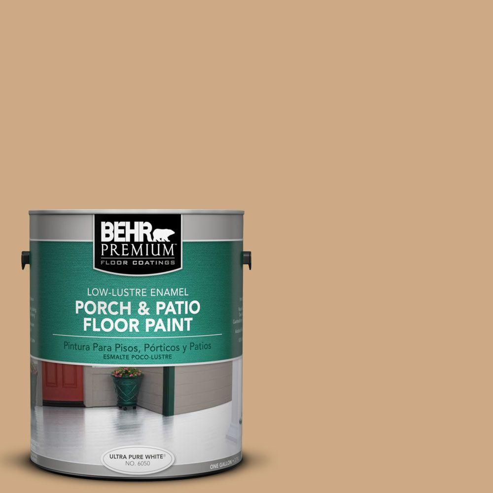 1 gal. #PFC-22 Cold Lager Low-Lustre Interior/Exterior Porch and Patio Floor