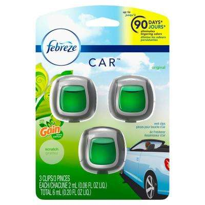0 06 oz  Original Scent Car Air Freshener Vent Clips with Gain Scent  (3-Count)