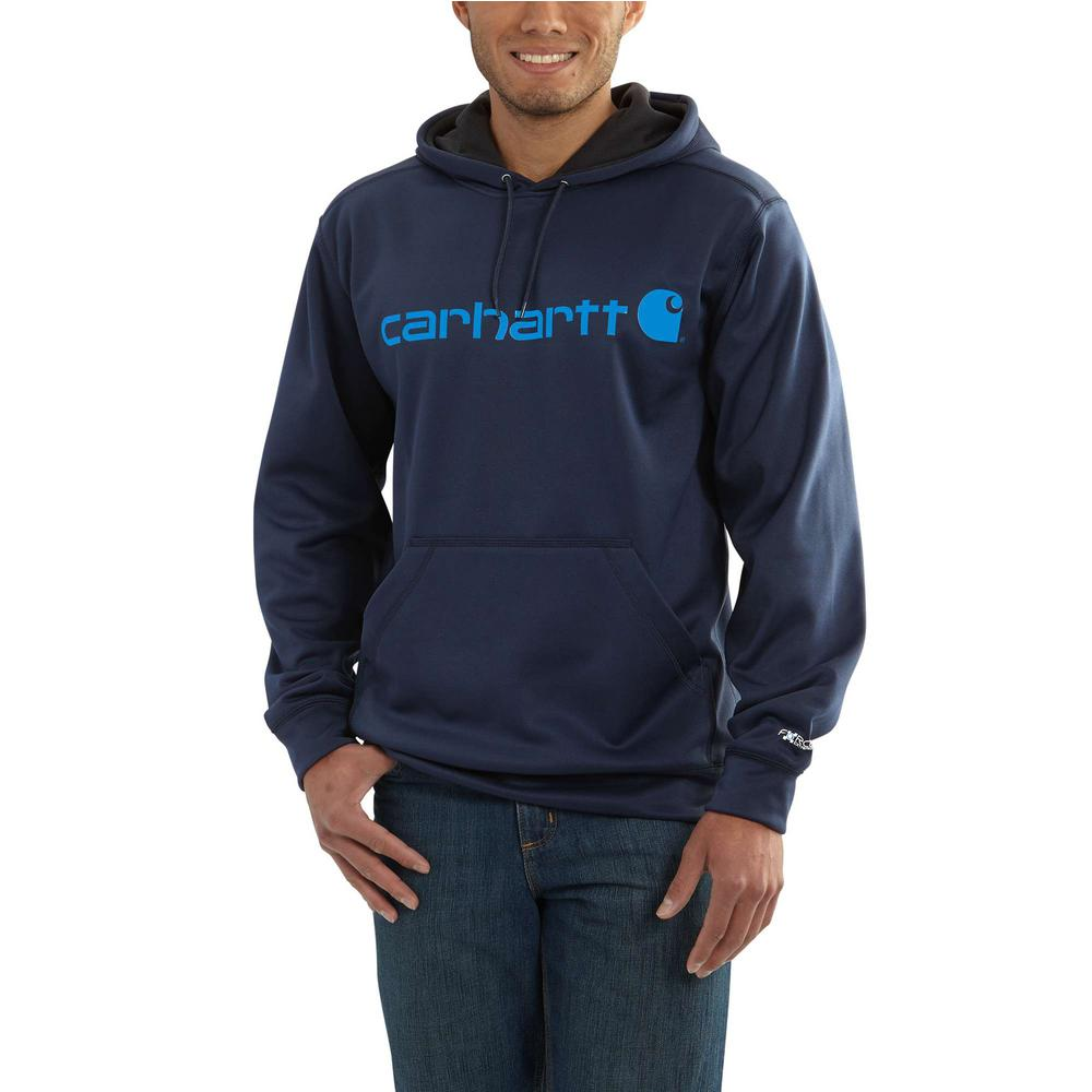 45cc93a27 Carhartt Men's 4X-Large Navy Polyester/Cocona Force Extremes Signature Graphic  Hoodie