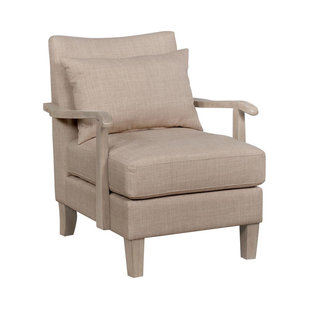 Jamila Beige Fabric Armchair