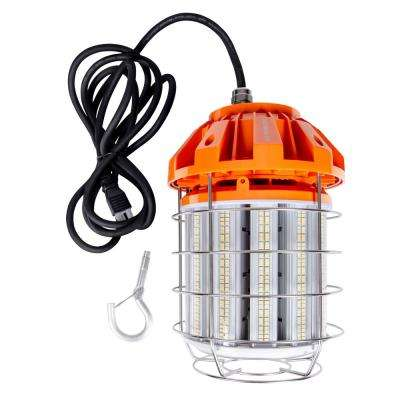 125-Watt Temporary LED Work Light Fixture with Clamp and Plug-In Cord