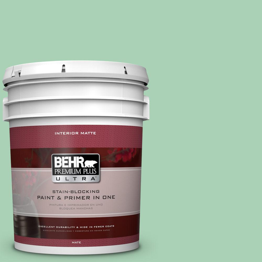 5 gal. #460D-4 Aloe Essence Flat/Matte Interior Paint