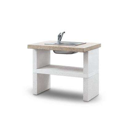 Palazzetti Ariel Sink Unit in White Marmotech