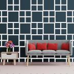 3/8 in. x 41-1/2 in. x 23-3/4 in. Large Carlisle White Architectural Grade PVC Decorative Wall Panels