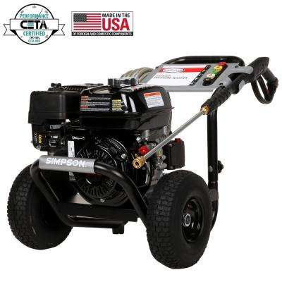 PowerShot 3300 psi at 2.5 GPM HONDA GX200 with AAA Triplex Pump Professional Gas Pressure Washer