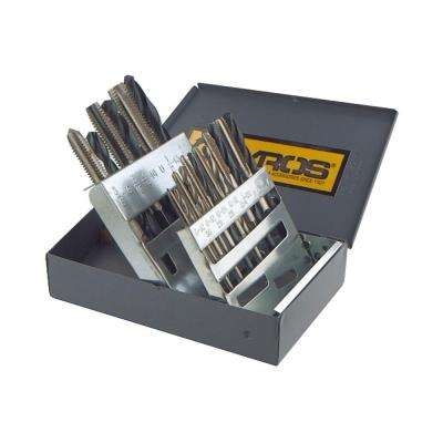 High Speed Steel Coarse Tap and Drill Bit Set (18-Piece)