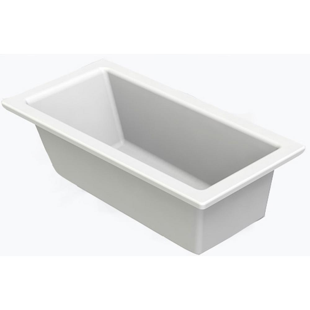Claremont 60 in. AcrylX Acrylic-Finished Reversible Drain Rectangular Drop-in
