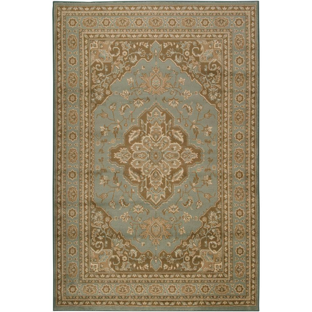 Artistic Weavers Matignon Aqua 7 ft. 9 in. x 11 ft. 2 in. Area Rug