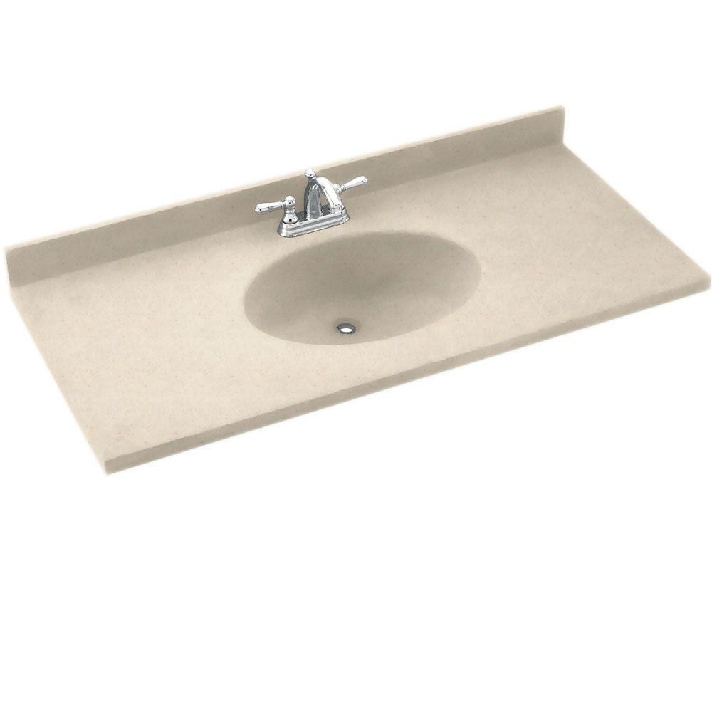 Chesapeake 25 in. Solid Surface Vanity Top with Basin in Tahiti